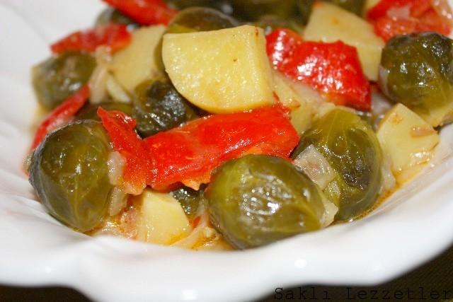 Zeytinyağlı Brüksel Lahanası Yemeği Tarifi Videosu